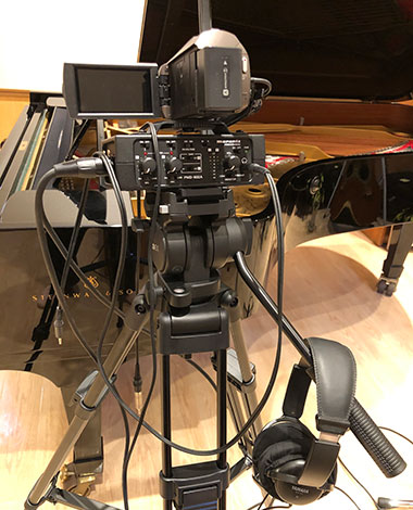 デジタル一眼レフカメラとオーディオインターフェイス